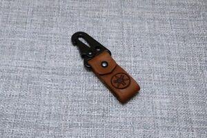 Porte-clés / pendentif en cuir personnalisé fait à la main mousqueton Yamaha