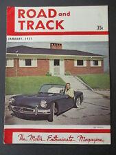 Vintage Road & Track Magazine January 1951