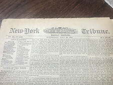 FRONT PAGE 1st report BILLY THE KID KILLED! 1881 New York Tribune Newspaper