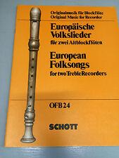 Europäische Volkslieder für zwei Altblockfl��ten
