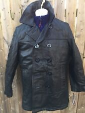 NWT Schott Bros Leather P-coat Naval 740N style #140 MADE IN USA SZ 34 Great!!!!