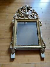Miroir style louis XVI bois et stuck