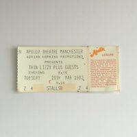 Thin Lizzy - 29/03/1983 Apollo Theatra Manchester concert Ticket Stub