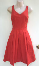 """""""cue"""" Red Fit and Flare Dress Size 10"""