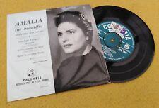 """AMALIA RODRIGUES """"  AMALIA THE BEAUTIFUL """" SUPERB UK ORIG TAX STAMPED EP - FADO"""