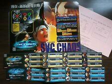 SNK VS CAPCOM CHAOS NEO GEO NEOGEO MVS ARCADE GAME MANUAL + STICKERS JAPANESE