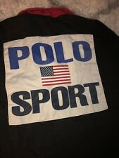 POLO SPORT Ralph Lauren Mens Cotton Collared Long Sleeve PoloShirt Sz M
