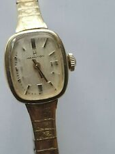 VINTAGE HAMILTON WATCH FOR WOMEN  STRETCH  BAND WIND UP VERY PRETTY WORKING.