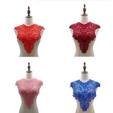 1Pcs Lace Neckline Collar Flower Embroidery Lace Applique DIY Costume Dress