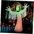 10 Ft Halloween Inflatables Ghost Decorations, Built-in Orange LED Lights