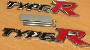 Honda Type R [Front Grill + Rare Boot] Alloy Metal Badge Civic Accord Integra