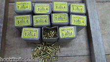 "10 BOXES 3/4"" x 4 NETTLEFOLDS GKN BRASS COUNTERSUNK SLOTTED WOOD SCREWS gross"