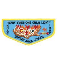 F5 NOAC 1992 Tahosa Lodge 383 Flap Denver Area Council Patch