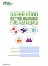 More details for safer food, better business for caterers+24 month diary +24temperature records +