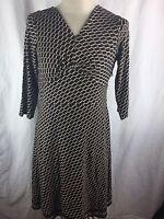 Ann Taylor Brown Dress Size 14 Empire Waist Work Career Dress V Neck   P