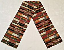 SCARF VINTAGE AUTHENTIC GEOMETRIC ETHNIC ART SILK LONG MEN'S