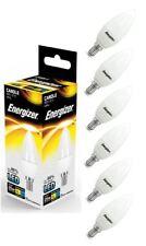 6x Energizer E14 SES Candle LED Light Bulb 250lm Opal 3.4W=25W Warm White 2700k