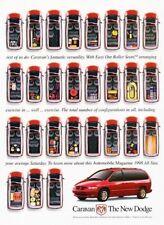 1998 Dodge Caravan Van  - 2-page Advertisement Print Art Car Ad J885