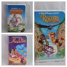 Disney VHS Dumbo Bambi Aladdin Black Diamond
