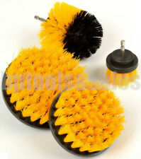 4pc Scrubber Cleaning Drill Brush Attachment Kit Power Scrubbr Carpet Floor Tile