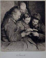 Ferdinand SCHMUTZER  1870-1928   Soldaten  1917  Radierung