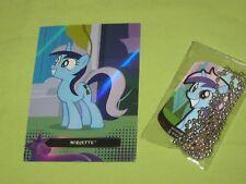 My Little Pony MINUETTE & MOONDANCER Dog Tag #23 & Foil Trading Card #TC25 Set