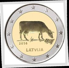 2 EURO *** Letland 2016 bruine Koe - Lettonie Vache brune 2016  !!!