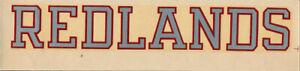 University of Redlands Bulldogs vtg 1950s _RARE_ College Decal ORIG Sticker NCAA