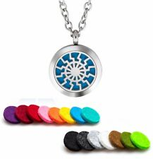 Aromatherapy Essential Oil Diffuser Necklace Pendant Stainless Steel Chimes