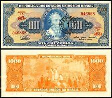 BRAZIL 1 CRUZEIRO NOVO ON 1000 CRUZEIROS 1966 P187b UNC
