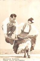California Ca Postcard Real Photo RPPC 1946 PADUA HILLS Mexican Players Dancers