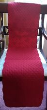 """SoLID RuBY ScARLET ReD QuILTED ReVERSIBLE TaBLE RuNNER BuFFET 13"""" X 54"""" NwT"""