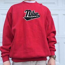 Red Nike Spellout Men's Vintage Crewneck Sweatshirt Size XL