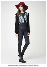 T-SHIRT CON STAMPA JEANS DENNY ROSE ART.64DR16020 TG.S NERA