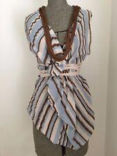 Scanlan & Theodore Stripe Wrap Top
