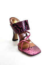 Paris Texas Womens Python Print Crossover Thong Sandals Fuchsia Pink Size 37 EUR