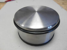 1 Türstopper   1,2 kg schwer  aus Edelstahl mit Gummiringen  110 mm dm
