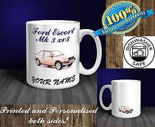 Ford Escort Mk 3 - XR3 Personalised Ceramic Mug Gift. (C015C)