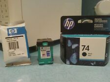 HP Ink Cartridges 74/75 (One black, 2 tri-color)