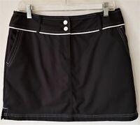 Adidas ClimaCool Golf Tennis Skirt Skort Size 8 Black White Piping Womens