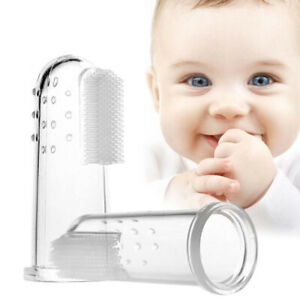 Baby Finger Toothbrush Silicone Teething Gum Cleaner Massager Soother UKSupplier