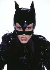 WOMENS CAT WOMAN KITTY SHINY BLACK VINYL HALF MASK WITH EARS COSTUME AB108