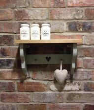 Shabby Chic Pine Shelf/shelf Unit/wall Unit/wall Cabinet In French Gray