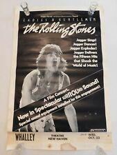 Vtg 1973 Rolling Stones Ladies & Gentlemen Whalley Theater Concert Movie Poster