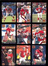 1995 MNF San Francisco 49ers Set JERRY RICE STEVE YOUNG DEION SANDERS BRENTJONES