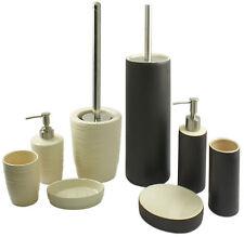 4 Piece Bathroom Accessory Set (Soap Dish, Lotion Dispenser, Tumbler, & Brush)
