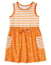 Nwts 4 Mermaid Summer Orange Pockets Crazy8 Gymboree Dress Outfit