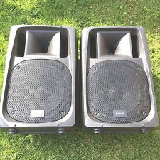 "(pair) CITRONIC CV12 speakers 12"" 300w rms passive pa moulded high power/quality"