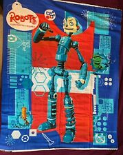 Disney ROBOTS Quilt Wall Hanging Cotton Panel - Sewing Quilting Material 2005