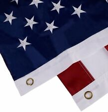 5X8' FT US USA U.S. American Flag Sewn Stripes Embroidered Stars Brass Grommet